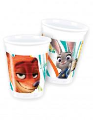 8 Vasos de plástico Zootrópolis™ 200ml