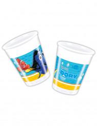 8 vasos de plástico Dory™ 200 ml