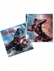 20 Servilletas papel Capitán América Civil War™