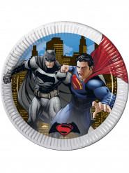 8 Platos de cartón Batman vs Superman™ 23 cm