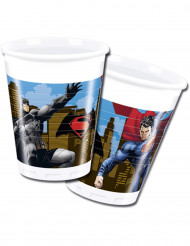 8 Vasos de plástico Batman vs Superman™ 200 ml