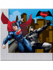 20 Servilletas papel Batman vs Superman™ 33x33 cm