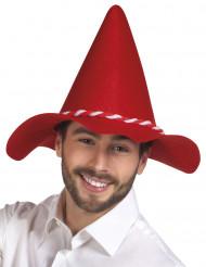 Sombrero bávaro rojo adulto