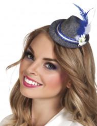 Mini sombrero bávaro pluma adulto