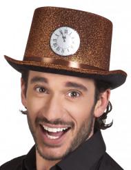 Sombrero de copa cobrizo adulto