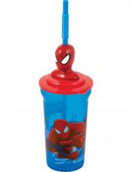 Vaso con pajita Spiderman™