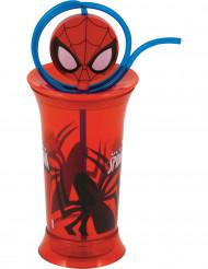 Vaso de plástico con pajita Spiderman™