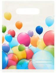 6 Bolsas de regalo globos multicolores
