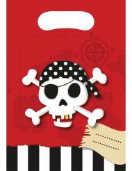 6 Bolsas de regalo Mapa del Tesoro Pirata