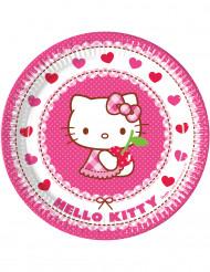 8 Platos de cartón Hello Kitty™ 23 cm