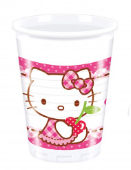 8 Vasos de plástico Hello Kitty™ 20 cl