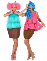 Disfraz de pareja cupcake fantasía mujer