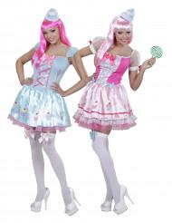 Disfraz de pareja cupcake mujer
