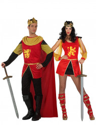 Disfraz de pareja caballero medieval adulto