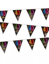 Guirnalda 20 banderines fuegos artificiales 40 años 7 m