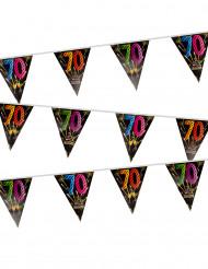 Guirnalda de banderines plastificados 70 años fuegos artificiales 7 m