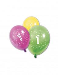 8 Globos cumpleaños 1 año