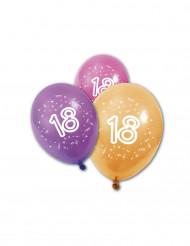 8 Globos de cumpleaños 18 años