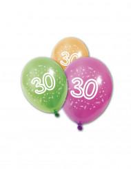 8 Globos látex 30 años