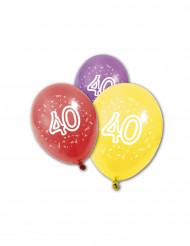 8 Globos de cumpleaños 40 años