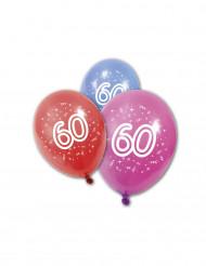 8 Globos cumpleaños 60 años