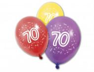 8 Globos látex cumpleaños 70 años