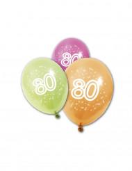 8 Globos de cumpleaños 80 años