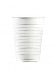 100 Vasos de plástico blanco 20 cl