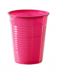 50 Vasos rosa fucsia plástico 20 cl