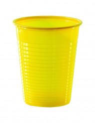 50 Vasos de plástico amarillo 20 cl