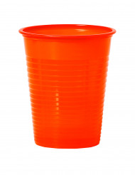 50 Vasos naranja mandarina plástico 20 cl