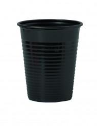 50 Vasos negros de plástico 20 cl