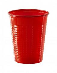 50 Vasos rojos de plástico 20 cl