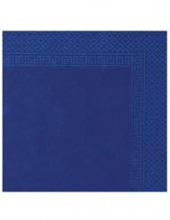 50 Servilletas azules 2 pliegues 38x38cm