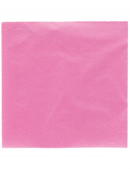 50 Servilletas rosas 2 pliegues 38x38 cm