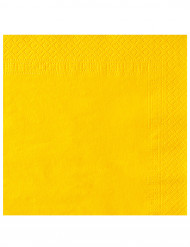 50 Servilletas 2 pliegues amarillo 38x38