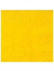 50 Servilletas 2 pliegues amarillo 38x38 cm
