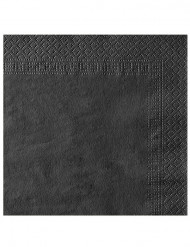 50 Servilletas 2 pliegues negras 38x38 cm