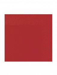 50 Servilletas rojas 2 pliegues 38x38