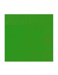 50 Servilletas verdes 2 pliegues 38x38 cm