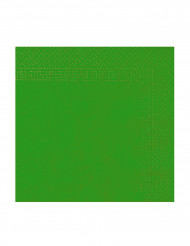 50 Servilletas verdes 2 pliegues 38x38