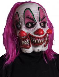 Máscara de payaso con 3 caras adulto Halloween