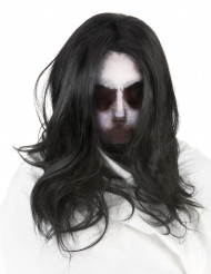Máscara fantasma con peluca adulto Halloween