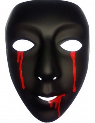 Máscara negra con lágrimas de sangre mujer Halloween