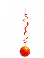 6 Decoraciones colgantes papel ignífugo baloncesto 80 cm