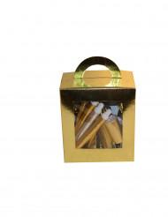 Caja cotillón dorado 10 personas