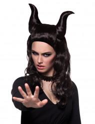 Peluca de demonio maléfico mujer Halloween