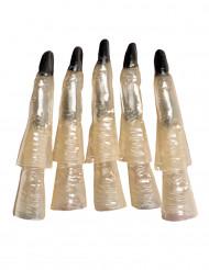 10 Dedos de bruja fosforescentes Halloween