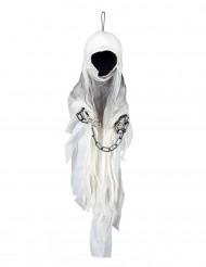 Decoración esqueleto segador encadenado 100 cm Halloween