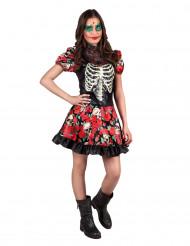 Disfraz de esqueleto adolescente Día de los Muertos
